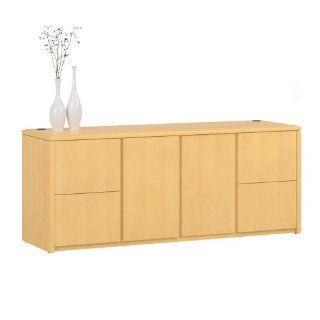 National Office Furniture Arrowood Wood Veneer Storage Credenza, Honey Maple   Storage Cabinets