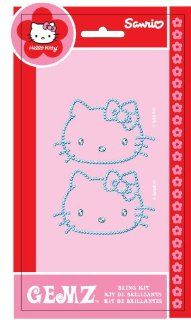 "Chroma Graphics 324 Gemz Silver 3"" x 5.25"" Hello Kitty Self Adhesive Decal Bling Kit: Automotive"