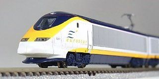 Kato 10 327: EUROSTAR Train, 8 Car Set (N Scale): Toys & Games