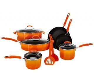 Rachael Ray 12 pc Gradient Porcelain Enamel Cookware Set —