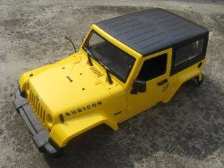 NEW 1/10 Scale Rc Crawler Yellow Body Fits Axial Scx10 Land Rover D90 Rc4wd Toys & Games