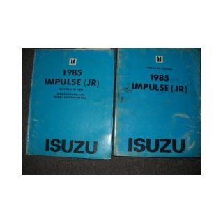 1985 Isuzu Impulse Service Repair Shop Manual Set OEM (service manual, and the electrical wiring diagrams manual and troubleshooting manual.): isuzu: Books