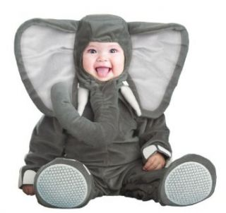 Costume Adventure Unisex baby Cuddly Elephant Costume Infant And Toddler Costumes Clothing