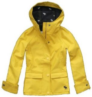 Abercrombie Kids Girls Rubber Addison Raincoat (Large, Yellow) Clothing
