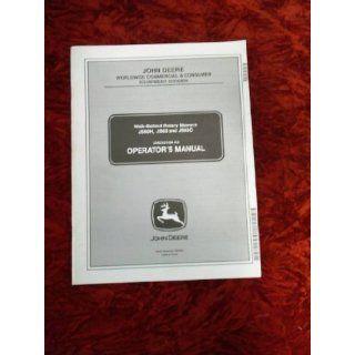 John Deere JS60H/JS63/JS63C Mower OEM OEM Owners Manual John Deere Books