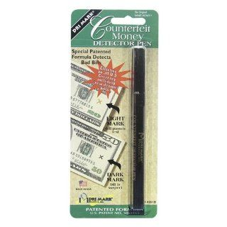 Dri Mark Smart Money Counterfeit Bill Detector Pen for Use with U.S. Currency, Black/Dark Brown (351B1)  Currency Marker