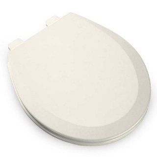 Bemis 500EC346 Molded Wood Round Toilet Seat With Easy Clean and Change Hinge Biscuit/Linen