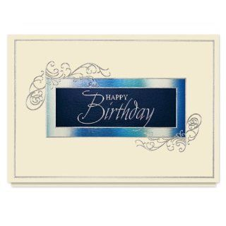Birthday Medallion Card   25 Premium Birthday Cards with Foiled lined Envelopes: Health & Personal Care