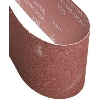 "Norton 07660702068 Portable Abrasive Belt, Cotton Fiber Backing, Aluminum Oxide, 24"" Length x 4"" Width, Grit 120 Very Fine (Pack of 5) Sander Belts Industrial & Scientific"