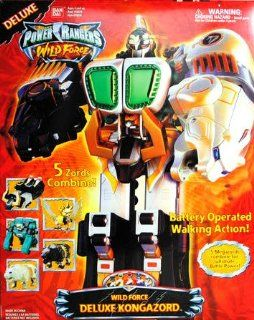 Power Rangers Wild Force Deluxe Kongazord Electronic Action Figure Toys & Games