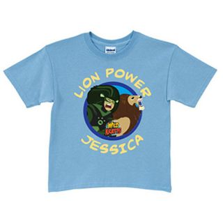Personalized Wild Kratts Lion Power Light Blue Toddler Boys T Shirt: Personalized Gifts