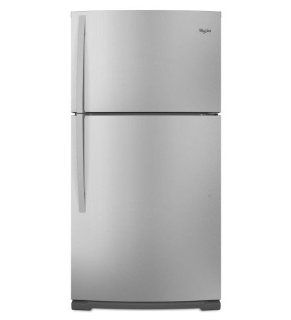 Whirlpool WRT371SZBM 21.1 Cu. Ft. Stainless Steel Top Freezer Refrigerator   Energy Star Appliances