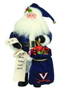 "Shop 15"" NCAA Virginia Cavaliers Santa Claus with Toy Sack Table Top Christmas Figure at the  Home D�cor Store"