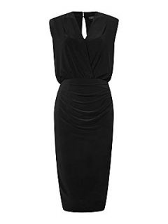 Pied a Terre Victoria panel slinky dress Black