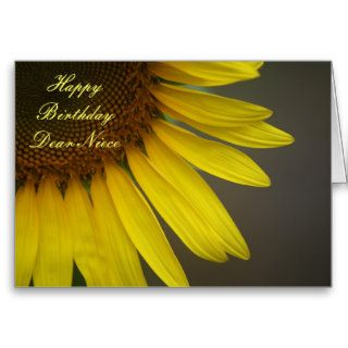 Happy Birthday Niece, Sunflower close up Greeting Cards