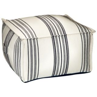 Threshold™ Striped Pouf   Navy