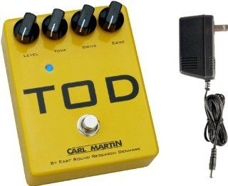 Carl Martin TOD (Turbo Over Drive) Distortion Effects Pedal w/ Bonus Power Supply Musical Instruments