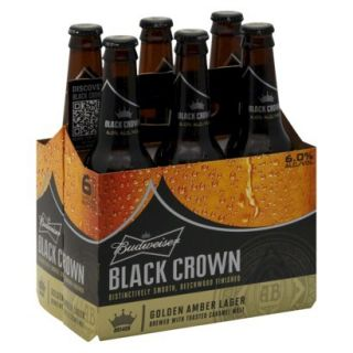 Budweiser Black Crown Golden Amber Lager Bottles