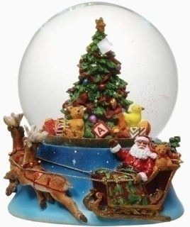 """Shop 6.5"""" Musical Santa Claus & Christmas Tree Snow Globe Glitterdome at the  Home D�cor Store. Find the latest styles with the lowest prices from Roman"""
