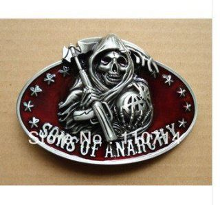 DHLNew buckle SW 402,SONS OF ANARCHY REAPER & BANNER SOA SAMCRO BIKER TV SHOW BELT BUCKLE: Video Games
