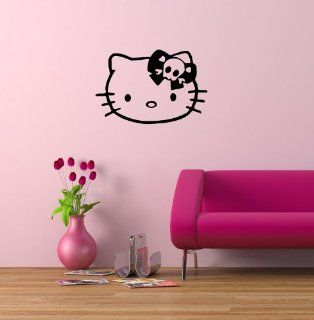 Wall Mural Vinyl Sticker Cute Hello Kitty Skull G215   Wall Decor Stickers