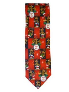 Neckties Mens Red Reindeer Band Christmas Tie Rock & Roll Holiday Necktie at  Men�s Clothing store