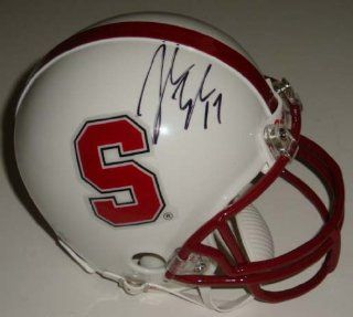 John Lynch Signed Stanford Mini Helmet Sports Collectibles