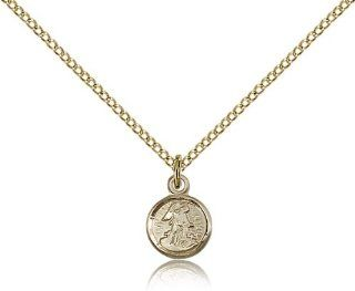 Guardian Angel Pendants   Gold Filled Guardian Angel Pendant Including 18 Inch Necklace: Jewelry