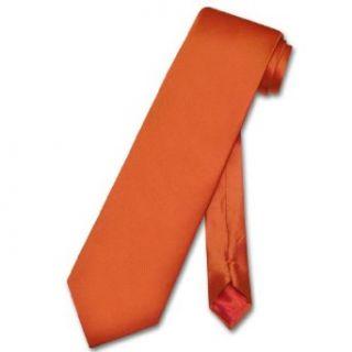 Biagio SILK NeckTie EXTRA LONG Solid BURNT ORANGE Men's XL Neck Tie at  Men�s Clothing store