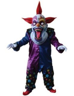 Adult Costume Evil Clown Red Blue Oversized Halloween Costume: Clothing