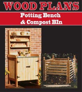 POTTING BENCH & COMPOST BIN WOODWORKING PAPER PLAN PW10013   Outdoor Furniture Woodworking Project Plans