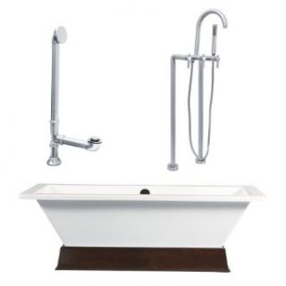 Giagni LT4 BN Contemporary Rectangle Freestanding Tub   Drop In Bathtubs
