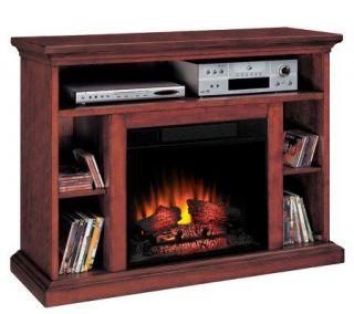 Beverly Media Electric Premium Cherry Finish Fireplace —