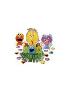 Sesame Street 1st Birthday Centerpiece (3 Centerpieces And Confetti)   Childrens Party Table Centerpieces