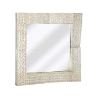 Contemporary Square Wall Mirror Finish Silver   Wall Mounted Mirrors