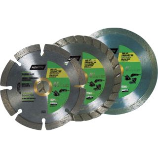 Norton Diamond Wheels — 4in., Wet/Dry, 3-Pk., Model# 076607052674  Diamond Blades