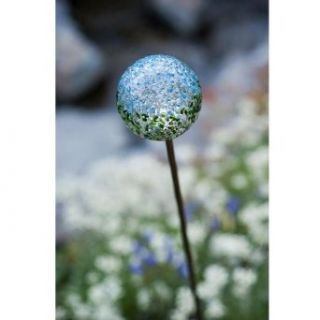 Recycled Glass Solar Garden Stake Light Color Earth Globe   Ceiling Pendant Fixtures