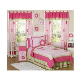 Sweet Jojo Designs Pink and Green Flower Collection Children's Bedding   4 Piece Twin Set Electronics