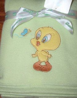 Looney Tunes Baby Tweety Fleece Blanket : Nursery Bed Blankets : Baby