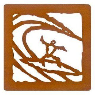 Hawaiian Laser Cut Wood Coasters Surfer Kitchen & Dining