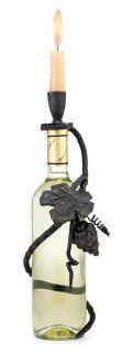 Grapevine Wine Bottle Candle Holder   Candleholders