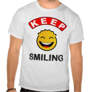 Fun colourful happy smiling smiley tee shirt