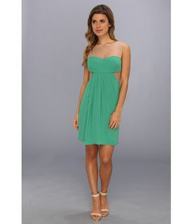 BCBGMAXAZRIA Aicha Sleeveless Draped Skirt Dress Kelly Green