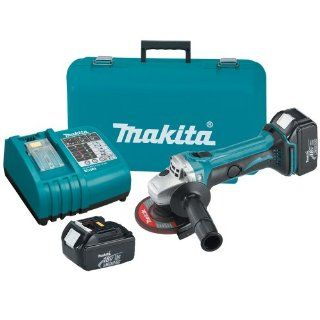 Makita BGA452 18 Volt LXT Lithium Ion Cordless 4 1/2 Inch Cut Off/Angle Grinder Kit   Power Angle Grinders