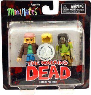 Walking Dead Minimates Series 3 Exclusive Mini FIgure 2 Pack Carol & Pole Zombie Toys & Games