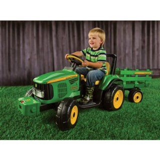 John Deere Battery Powered 12 Volt Farm Tractor/Trailer: Home Improvement