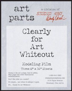 "Wendy Vecchi Clearly For Art Modeling Film Sheets 3/Pkg Whiteout, 8""X10"""