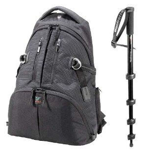 Kata Manfrotto KT DR 465 MP Digital Rucksack Promotional Bundle with Free Manfrotto 790B Modo Monopod (Black) : Camera Accessory Bags : Camera & Photo