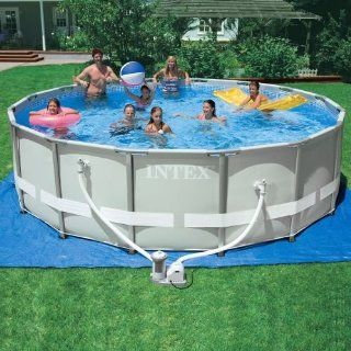 Intex Ultra Frame Round Pool Set (Discontinued by Manufacturer)  Framed Swimming Pools  Patio, Lawn & Garden