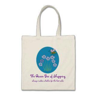 Queen Bee Honeybee Bumblebee Shopping Tote Tote Bags